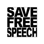 savefreespeechblockblk.png Square Sticker 3