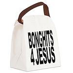 bonghits4jesusblk.png Canvas Lunch Bag