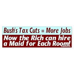 Bush's Jobs Plan Bumper Bumper Sticker