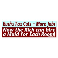 Bush's Jobs Plan Bumper Bumper Sticker