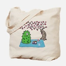 Plant Monster Enjoys Spring Picnic Tote Bag