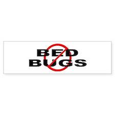 Anti / No Bed Bugs Bumper Sticker