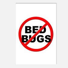 Anti / No Bed Bugs Postcards (Package of 8)
