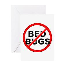 Anti / No Bed Bugs Greeting Card