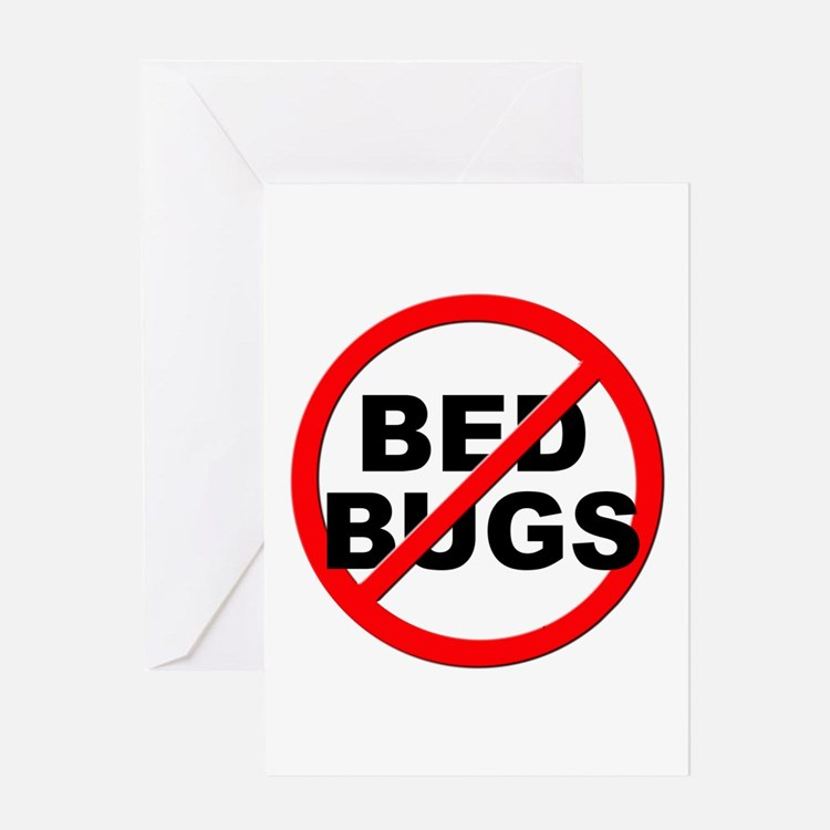 Anti / No Bed Bugs Greeting Card