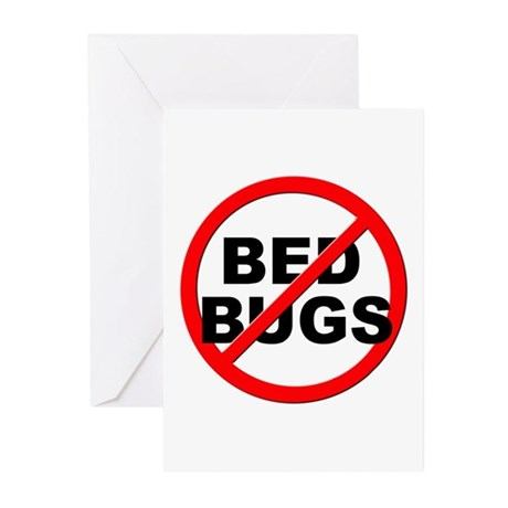 Anti / No Bed Bugs Greeting Cards (Pk of 20)