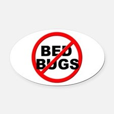Anti / No Bed Bugs Oval Car Magnet