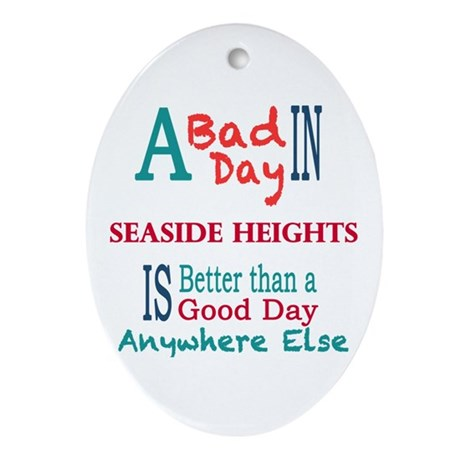 Seaside Heights Ornament (Oval)