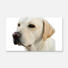 Yellow Lab Head Rectangle Car Magnet