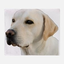 Yellow Lab Head Throw Blanket