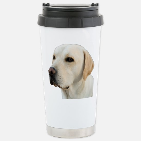 Yellow Lab Head Stainless Steel Travel Mug