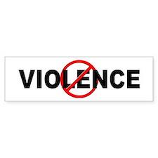 Anti / No Violence Car Sticker