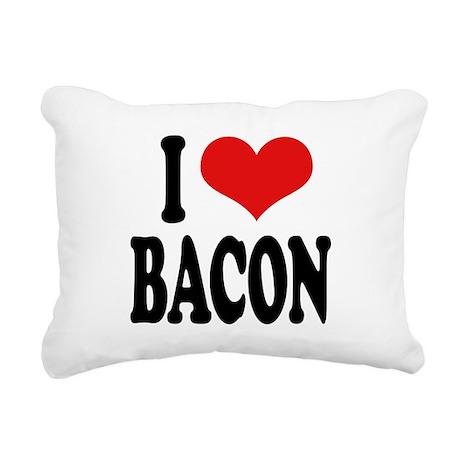 ilovebaconblk.png Rectangular Canvas Pillow
