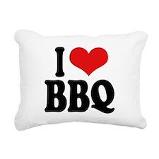 ilovebbqblk.png Rectangular Canvas Pillow