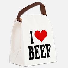 ilovebeefblk.png Canvas Lunch Bag