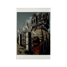 Haunted House Rectangle Magnet