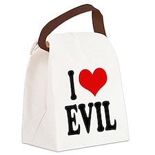 iloveevilblk.png Canvas Lunch Bag