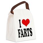 ilovefartsblk.png Canvas Lunch Bag