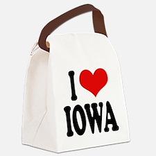 iloveiowablk.png Canvas Lunch Bag