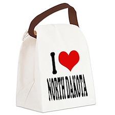 ilovenorthdakotablk.png Canvas Lunch Bag