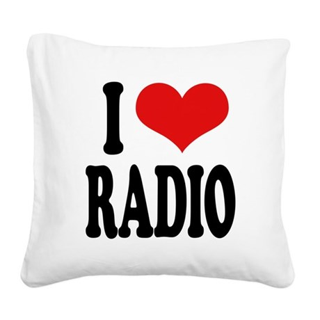 iloveradioblk.png Square Canvas Pillow