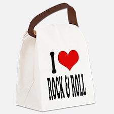 iloverockandrollblk.png Canvas Lunch Bag