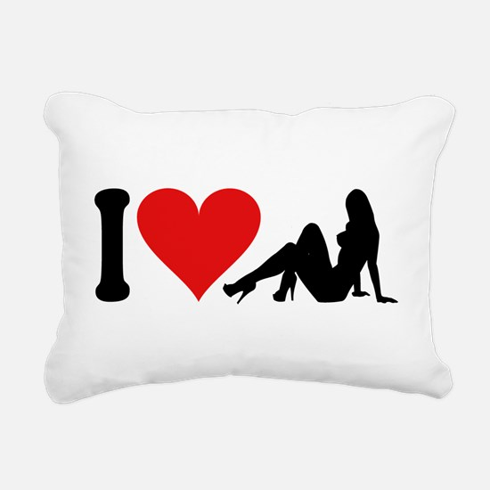3-ilovestrippersblk.png Rectangular Canvas Pillow
