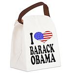 ilovebarackobamablk.png Canvas Lunch Bag