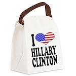 ilovehillaryclintonblk.png Canvas Lunch Bag