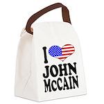 ilovejohnmccainblk.png Canvas Lunch Bag