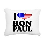 iloveronpaulblk.png Rectangular Canvas Pillow