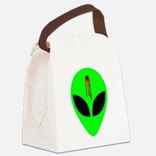 bulletholealienheadblkeyes.png Canvas Lunch Bag