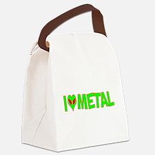 ialienlovemetal.png Canvas Lunch Bag
