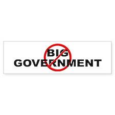 Anti / No Big Government Bumper Sticker