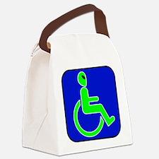 alienhandicappedblk.png Canvas Lunch Bag