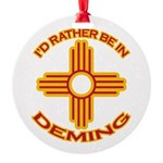 idratherbein-deming.png Round Ornament
