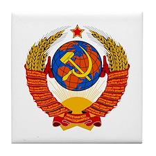 Soviet Union Coat of Arms Tile Coaster