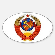 Soviet Union Coat of Arms Oval Decal