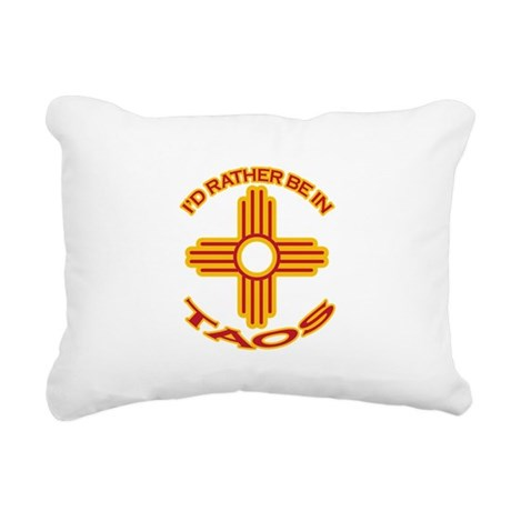 idratherbein-taos.png Rectangular Canvas Pillow