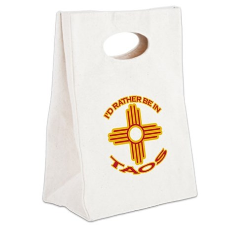 idratherbein-taos.png Canvas Lunch Tote