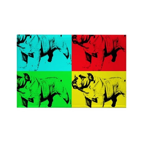 Pop Bulldog2 Rectangle Magnet