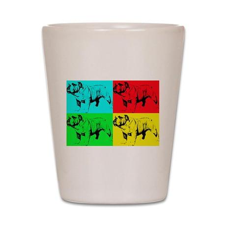 Pop Bulldog2 Shot Glass