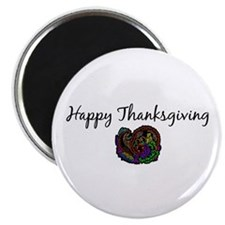 "Happy Thanksgiving 2.25"" Magnet (100 pack)"
