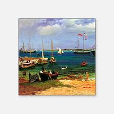 """Albert Bierstadt Nassau Square Sticker 3"""" x 3"""""""
