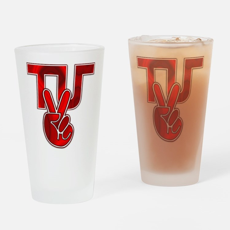 TydyUnify - Red Peace Fingers Drinking Glass