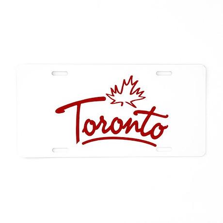 Toronto Leaf Script Aluminum License Plate