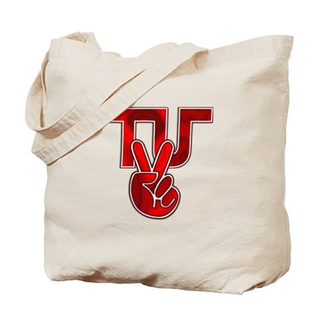 TydyUnify - Red Peace Fingers Tote Bag
