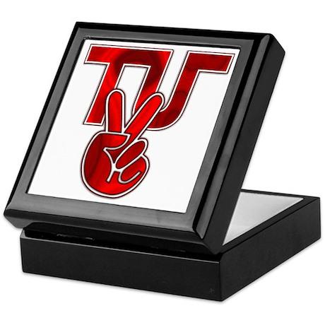 TydyUnify - Red Peace Fingers Keepsake Box