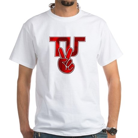 TydyUnify - Red Peace Fingers White T-Shirt