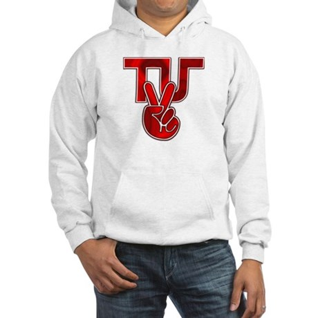 TydyUnify - Red Peace Fingers Hooded Sweatshirt